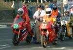 Roger Steele (number 73) at Start Line, Douglas.