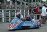 Andy Kinsella/Timothy Dixon at the TT Grandstand, Douglas.