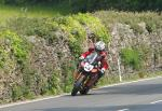John McGuinness leaving Tower Bends, Ramsey.