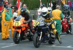 Ian Hickey (number 26) at Start Line, Douglas.