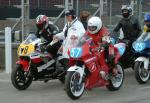 Dave Corlett (number 57) at the Practice Start Line, Douglas.