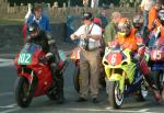 Martin Powell (number 102) at Start Line, Douglas.