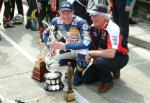 Adrian Archibald with Trophies at the TT Grandstand