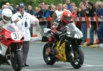 Tom Clucas at the TT Grandstand, Douglas.