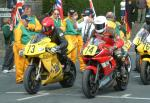 Alan Stevens (number 73) at Start Line, Douglas.