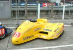 Mark Autton/Wayne Appleby's sidecar at the TT Grandstand, Douglas.