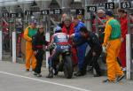 Robert McCrum in the pits at the TT Grandstand.