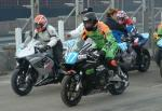 Steve Grainger (number 77) at the Practice Start Line, Douglas.