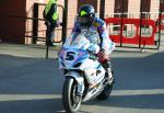 Bruce Anstey at the TT Grandstand, Douglas.