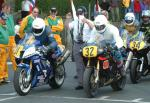 Andrew Brown (number 32) at Start Line, Douglas.