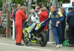 Andrew Timbrell in the pits, Douglas.