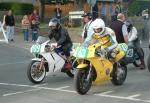 Danny Pullen (109) during practice, leaving the Grandstand, Douglas.