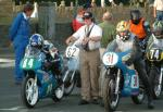 Mick Hemmings (number 31) at Start Line, Douglas.