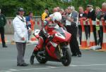 Jason Griffiths leaving TT Grandstand.