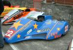 Simon Neary/Kevin Morgan's sidecar at the TT Grandstand, Douglas.